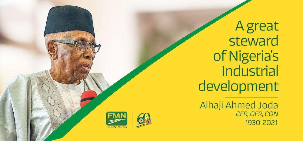 Flour Mills of Nigeria Plc mourns a great Titan of Nigerian Industry, Alhaji Ahmed Joda, CFR, OFR, CON.